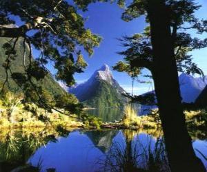 Puzzle Te Wahipounamu - zone sud ouest de la Nouvelle-Zélande.