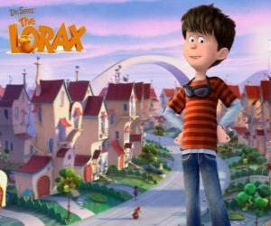 Puzzle Ted Wiggins, un garçon idéaliste de 12 ans, le personnage principal du film Lorax