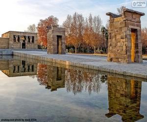 Puzzle Temple d'Amon de Debod, Madrid