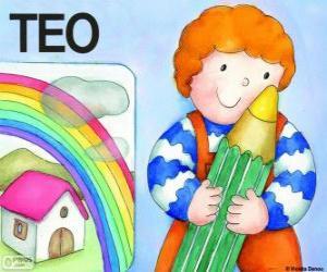 Puzzle Teo et couleurs