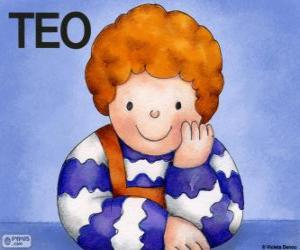 Puzzle Teo, un personnage de les livres d'enfants de Violeta Denou