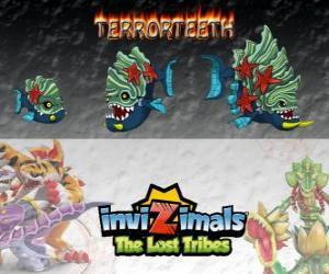 Puzzle Terrorteeth, dernière évolution. Invizimals The Lost Tribes. Invizimal aquatique qui mange très rapidement et qui mord tout ce qui