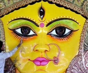 Puzzle Tête de la déesse Durga, un des aspects de Pârvâti