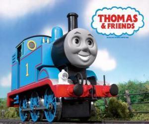 Puzzle Thomas la locomotive est une locomotive à vapeur avec le numéro 1. Thomas et ses amis