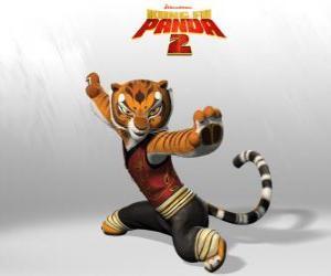 Puzzle Tigresse est le plus brave et le plus fort des maîtres de Kung Fu.