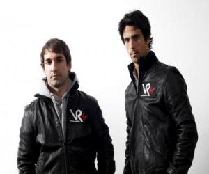 Puzzle Timo Glock et Lucas di Grassi, les pilotes de la Scuderia Virgin Racing