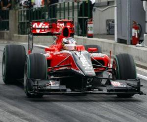 Puzzle Timo Glock - Virgin - Grand Prix de Hongrie 2010