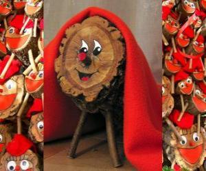 Puzzle Tio de Nadal (Bûche de Noël), une tradition catalan, occitan et du Alto Aragon