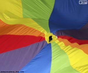 Puzzle Tissu multicolore