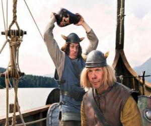 Puzzle Tjure sur le point de briser un vase sur la tête de Snorre