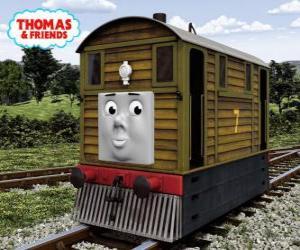 Puzzle Toby est le tramway marron numéro 7