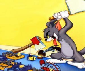 Puzzle Tom a essayé d'attraper la souris Jerry