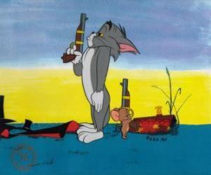 Puzzle Tom et Jerry dans un duel