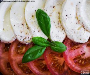 Puzzle Tomate et mozzarella