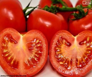 Puzzle Tomate mûre coupée