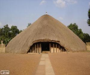 Puzzle Tombeaux des rois du Buganda à Kasubi, Kampala, Ouganda
