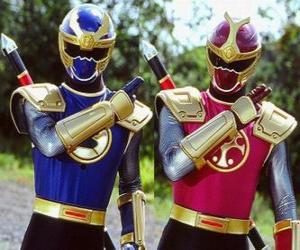 Puzzle Tonnerre Ranger est un duo Crimson je Marina