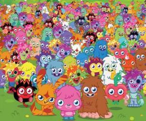 Puzzle Tous les monstres de Moshi Monsters