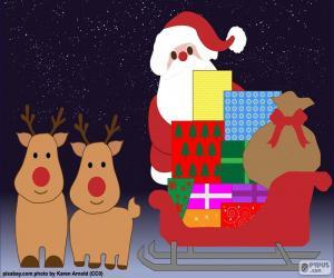 Puzzle Traîneau du père Noël