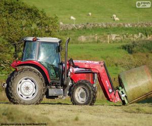 Puzzle Tracteur rouge
