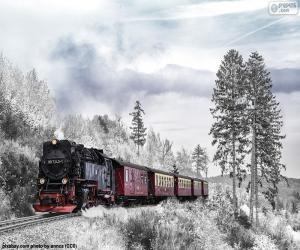Puzzle Train d'hiver