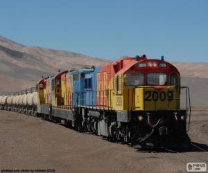 Puzzle Train de marchandises, Chili