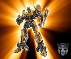 Puzzle Transformateurs Bumblebee, est appelé le - petit frère - de l'Autobots