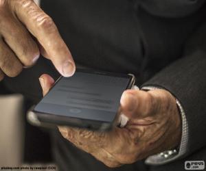 Puzzle Travail avec le téléphone portable