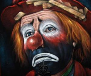 Puzzle Triste visage de clown