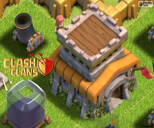 Puzzle Trois bâtiments de Clash of Clans