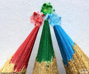 Puzzle Trois crayons de couleur