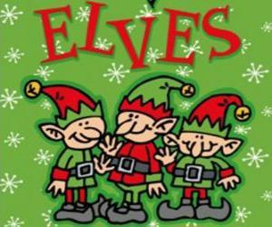 Puzzle Trois petits lutins du Père Noël