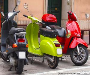 Puzzle Trois scooters