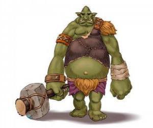 Puzzle Troll géant armé d'un gourdin
