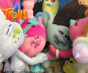 Puzzle Trolls câlins