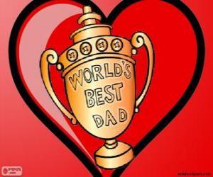 Puzzle Trophée ou coupe pour le meilleur papa