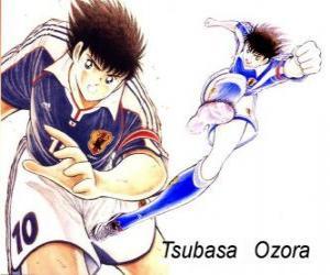 Puzzle Tsubasa Captain Tsubasa est Ozora, le capitaine de l'équipe de football japonais
