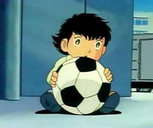Puzzle Tsubasa Ozora, Oliver Atton, un enfant japonais qui est un fan de football