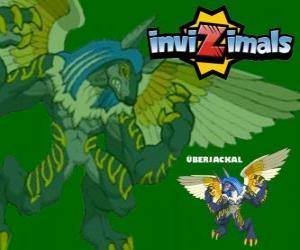 Puzzle Überjackal. Invizimals. Créature puissante et énorme qui a le pouvoir de la magie