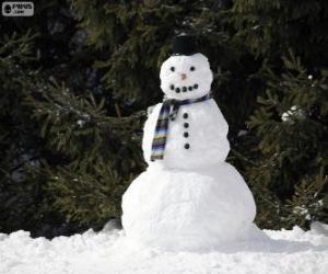 Puzzle Un élégant bonhomme de neige