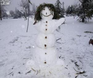 Puzzle Un amusant bonhomme de neige