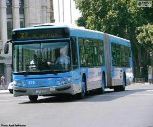 Puzzle Un autobus articulé de deux modules
