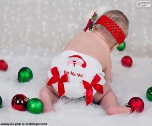 Puzzle Un bébé de Noël