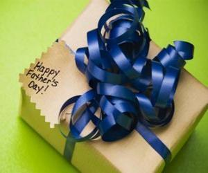 Puzzle Un cadeau pour papa avec un ruban