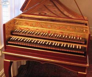 Puzzle Un clavecin est un instrument de musique à cordes muni d'un ou plusieursnote claviers