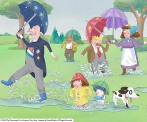 Puzzle Un jour de pluie dans le royaume de Petite princesse