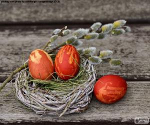 Puzzle Un nid de Pâques