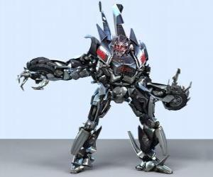 Puzzle Un transformateur, un robot intelligent. Transformers