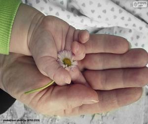 Puzzle Une fleur pour maman