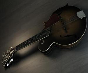 Puzzle Une mandoline, instrument de musique à quatre cordes doubles